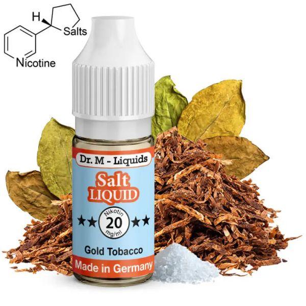 Dr. M - Liquids - Gold Tobacco SALT Liquid